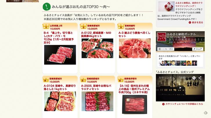 ふるさとチョイス 肉ランキング